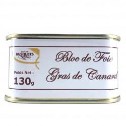 Bloc de foie gras de canard conserve 130 grs