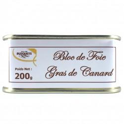 Bloc de foie gras de canard conserve 200 grs