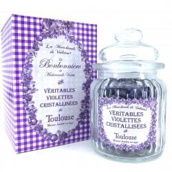 La Bonbonière de véritables fleurs de violettes...