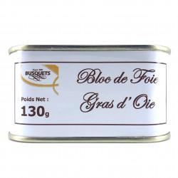 Bloc de foie gras d'oie conserve 130 grs