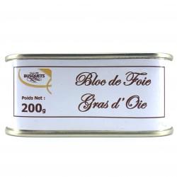 Bloc de foie gras d'oie conserve 200 grs