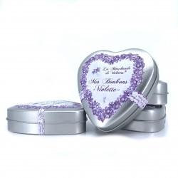 Coeur bonbons à la violette 90 grs