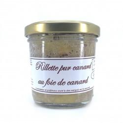 Rillette de canard au foie gras 90 grs
