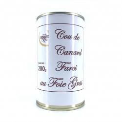 Cou de canard farci au foie gras 200 grs